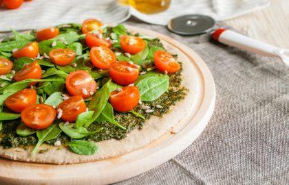 פיצה מבצק חצילים ללא גלוטן